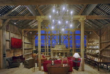 Bank Barn Interior