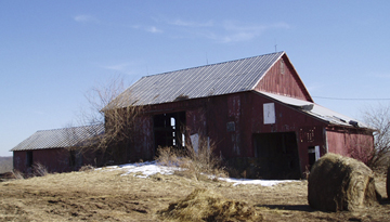 Here's the Bank Barn Before Construction