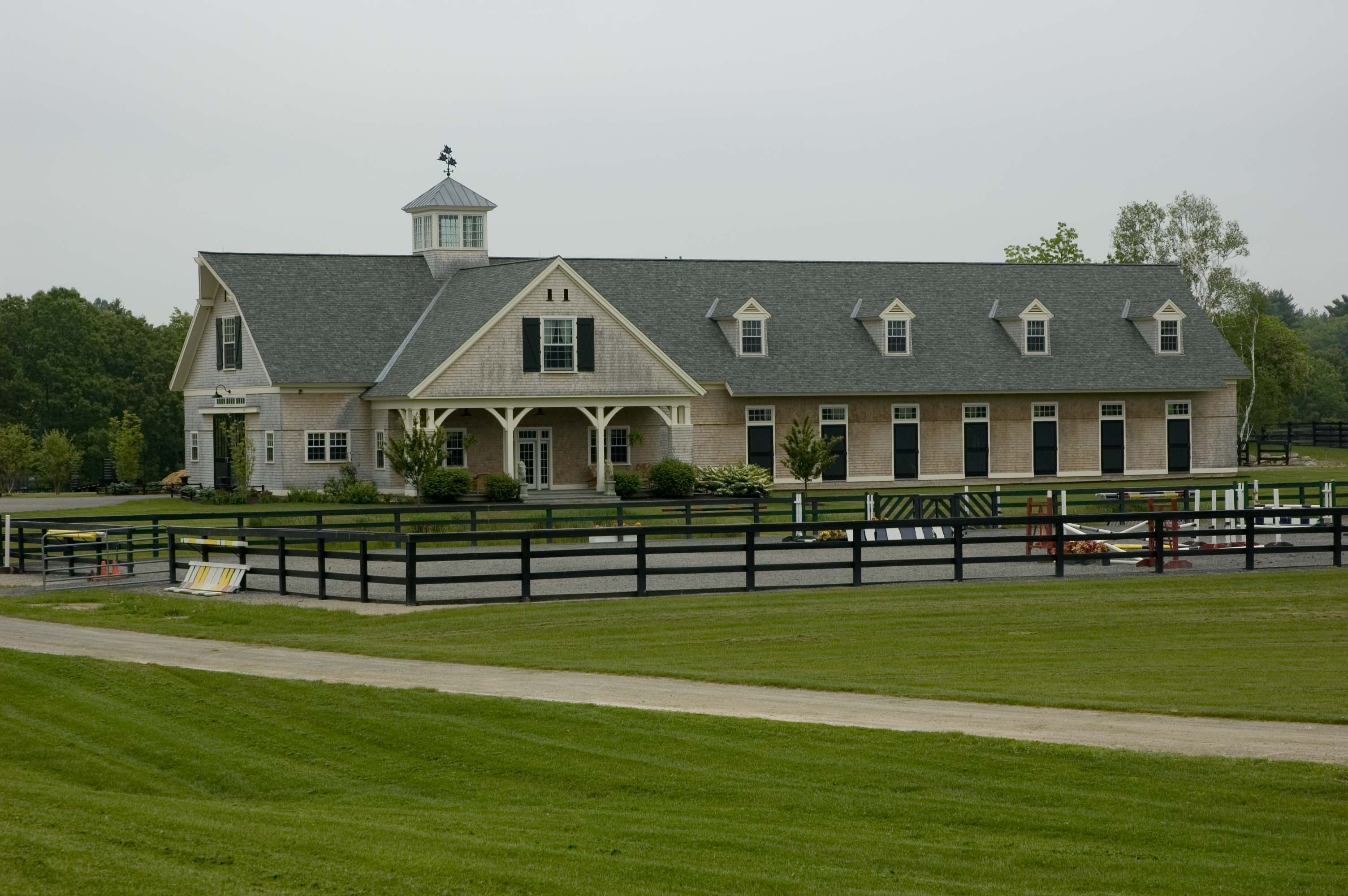Luxury horse barns plans the image kid for Equestrian barn plans